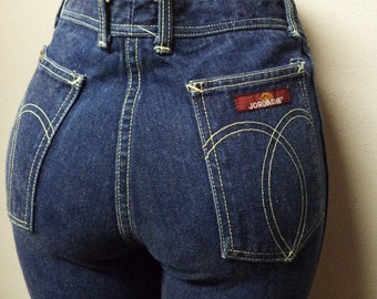 Vintage 70's Jordache High Waisted  Blue Jeans