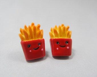French Fry Stud Earrings