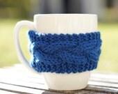 Custom Listing for JJ - Blue Coffee Cup Cozy