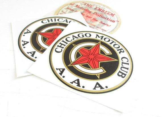 Vintage 1960s Chicago Motor Club Decals Aaa Motor Club