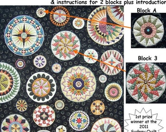 Lots of Dots BOM - Month 1. Patterns and instructions for two blocks as pictured.