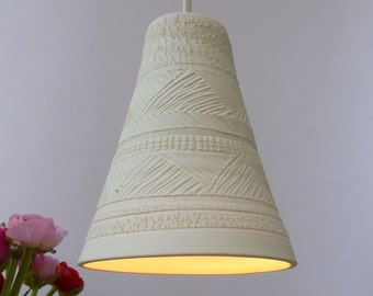 Ornament porcelain cone bell, Pendant light, Hanging light