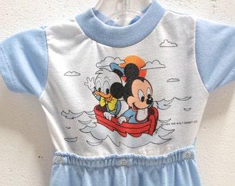 kid's vintage MICKEY MOUSE disneyland onesie jumper