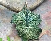 Unbe-Leafable Artisan Bronze PMC Leaf Pendant