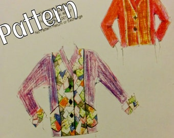 Art Jacket Pattern In 3 lengths Elements Jacket 004 XXS - XXXL