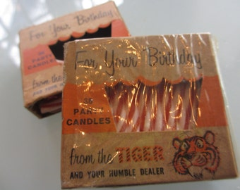 Vintage Exxon Tiger Birthday Candles