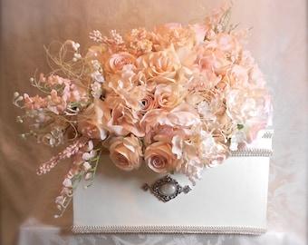 Blush Wedding Card Holder, Wedding Card Box, Custom Card Box, Handmade, Gift Card Boxes,  Wedding Gift Box