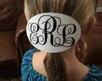 Personalized Monogramed Hair Barretts