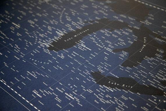 Typographic Heartland Map