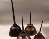 Reserved for Jack. Graceful Mini Vintage Oil Cans in a Group of Four