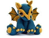 Dragon Amigurumi Crochet Pattern PDF Instant Download - Clancy