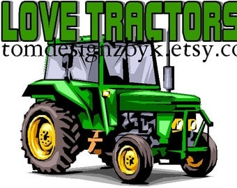 I Love Tractors boys iron-on shirt decal NEW by kustomdesignzbyk