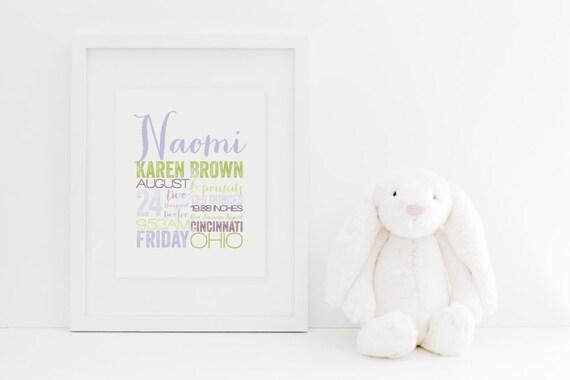 "REMEMBER the day™ - 8x10"" Custom Memory Announcement - Birth Story - Keepsake - Custom - Fine Art Print"
