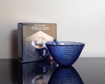 Holmegaard Denmark Trigona Bowl designed by Torben Jorgensen