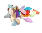 Die cut Leaf shape pre cut craft shapes satin leaf patch fabric accessories crafts applique leaves fabric