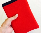 SALE Kindle sleeve - TAILORED to your DEVICE - kindle won't slip out - Rainier National Park Blanket fabric recycled upcycled Red