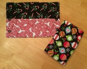 Candy Cane, Peppermint, and Christmas Ornament Suck Pads - Dress up your Ergo or Tula with these festive Drool Pads