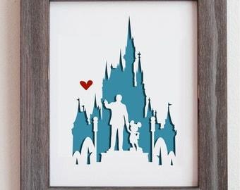 "Disney World. 8x10""  Personalized Gift or Wedding Gift"