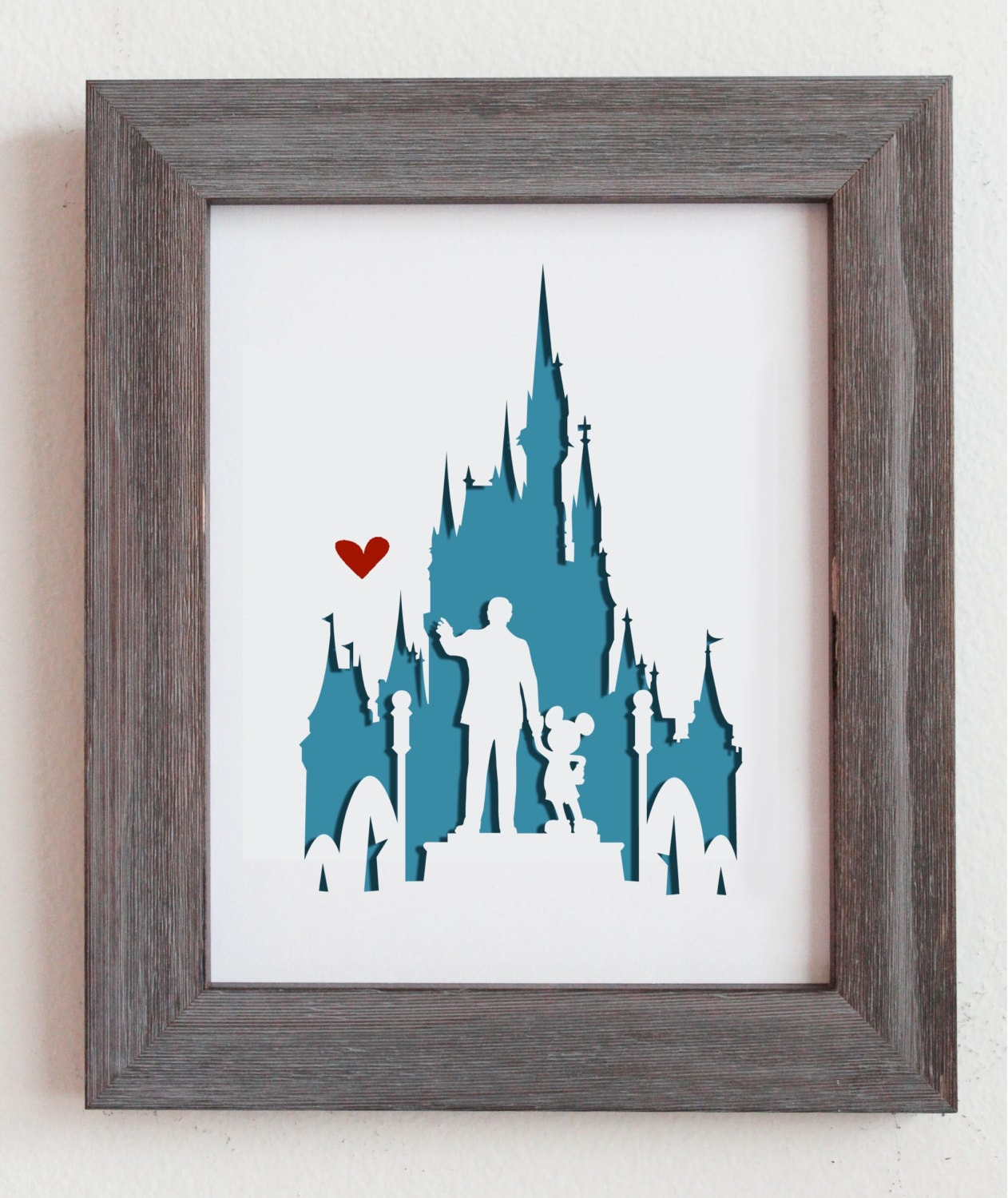 Disney Wedding Gift: Disney World. 8x10 Personalized Gift Or Wedding By Cropacature
