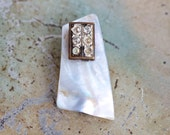 Antique Scarf Clip - Art Deco Mother of Pearl