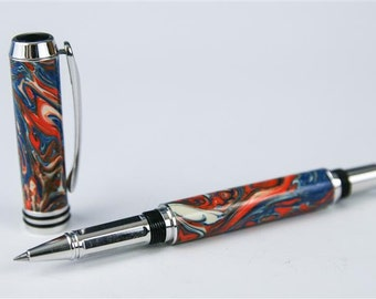 Colorful Tycoon Rhodium Rollerball Pen