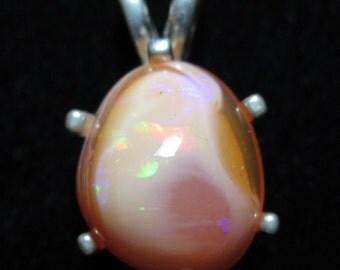 Opal in matrix on silver bezel 16.4ct