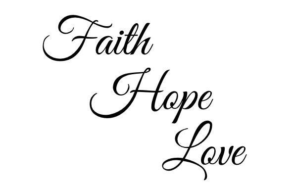 Faith hope love tatouage temporaire devis tattoo - Faith love hope pictures ...