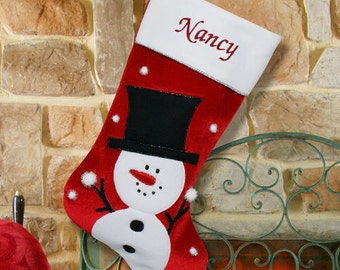 Classic Snowman Christmas Stocking -gfyS34659