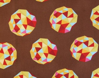 99007 - Tula Pink  Birds & Bees -Meteor shower in cinnamon laminated cotton - l1/2 yard
