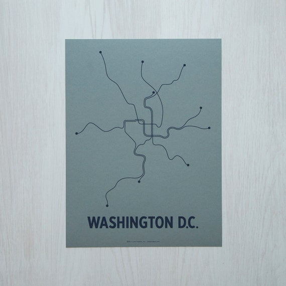 DC Sm Screen Print - Steel Blue/Navy