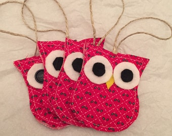 Owl Christmas Ornaments - Set of 4