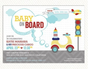 Go Baby Go Baby Shower Invitations – Printable