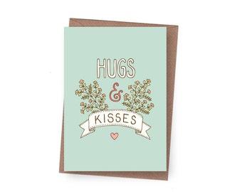 SALE Hugs & Kisses Greeting Card