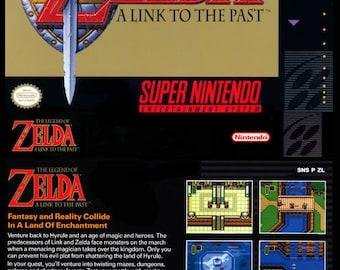 Zelda SNES reproduction poster print