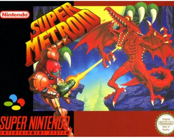 Metroid SNES reproduction poster print