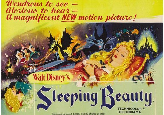 Sleeping Beauty reproduction poster print