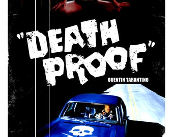 Death Proof movie poster print