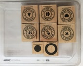 Stampin Up Riveting Stamp Set Used Baby, Holiday, Birthday, etc