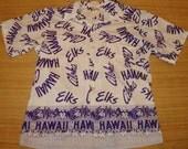 Mens Vintage 70s Hawaii Elks Club Hawaiian Shirt - XL - The Hana Shirt Co