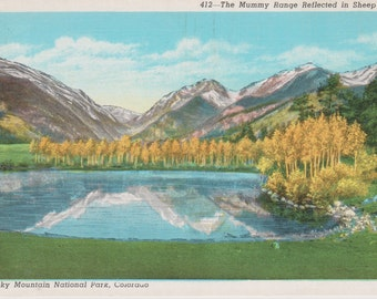 Rocky Mountains, Colorado, Mummy Range, Sheep Lake - Linen Postcard - Unused (TT)