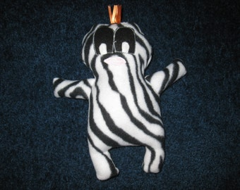 Soft Stuffed Zebra Striped little Monster doll