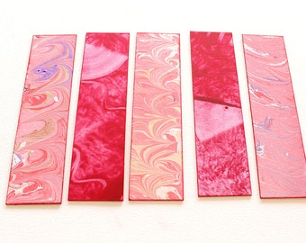 Set of 5 Bookmarks - Red