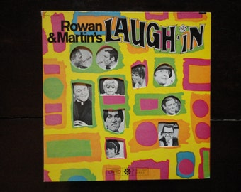 Vintage Retro Gatefold Vinyl Record Album Rowan and Martin's Laugh-In 1968 TV Variety Show