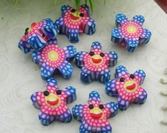 6 Pcs  Beautiful Fimo Turtle  13mm,   (WP12-018)
