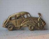 Vintage Brass Car Key Holder
