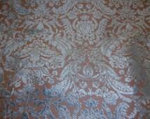 "Prague Mist Damask Velvet  Upholstery Fabric by the yard 54"" wide"