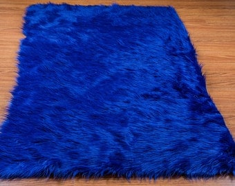amazing u x u new premium royal shag fur area rug nursery room decor home  with blue shag rug.