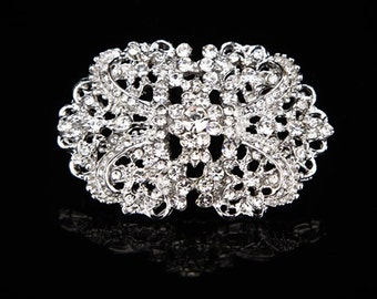 SWARVOSKI Bridal crystal head piece , crystal hair comb , wedding head piece