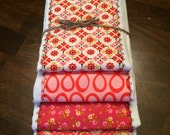 Baby Burp Cloth Set - Baby Set Burp Cloths - Paisley & Floral Patterned (Set of 4)