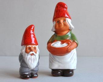 """SALE! Swedish Gnomes 6"""" - Rolf Berg Keramik"""